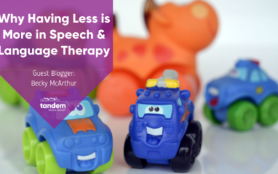 Why Having Less is More in Speech & Language Therapy