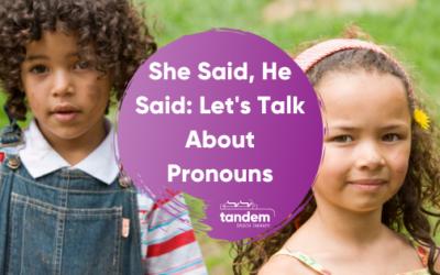 She Said, He Said: Let's Talk About Pronouns